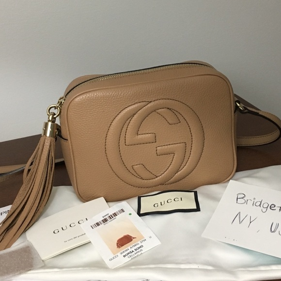 2deb9422bdf3 Gucci Handbags - Authentic Gucci Soho Disco Rose Beige   Cameila